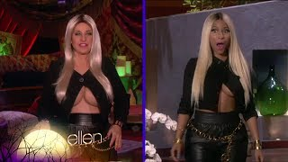 Repeat youtube video Ellen is Nicki Minaj for Halloween! on Ellen show