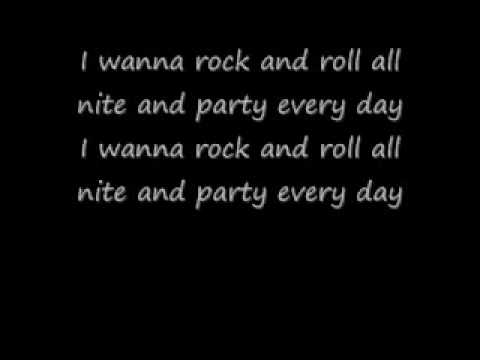 Kiss-I Wanna Rock N Roll All Night Lyrics