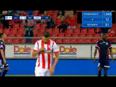 Kevin Mirallas Goal HD   @Olympiakos Piraeus 2 1 @Kerkyra 16 04 2018