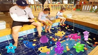 catch fishing and play on the playground / nursery rhymes & kids songs / pretend play
