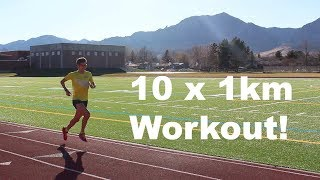 10 x 1km LT Workout | Sage Canaday Training for a sub 2:19 Marathon