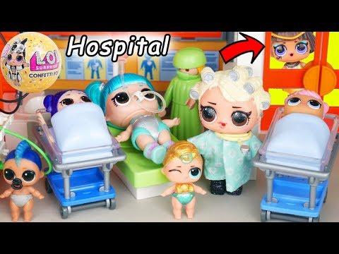 LOL Surprise Dolls in Big Ball Playmobil Hospital with Full Collection + Wedding JOJO SIWA