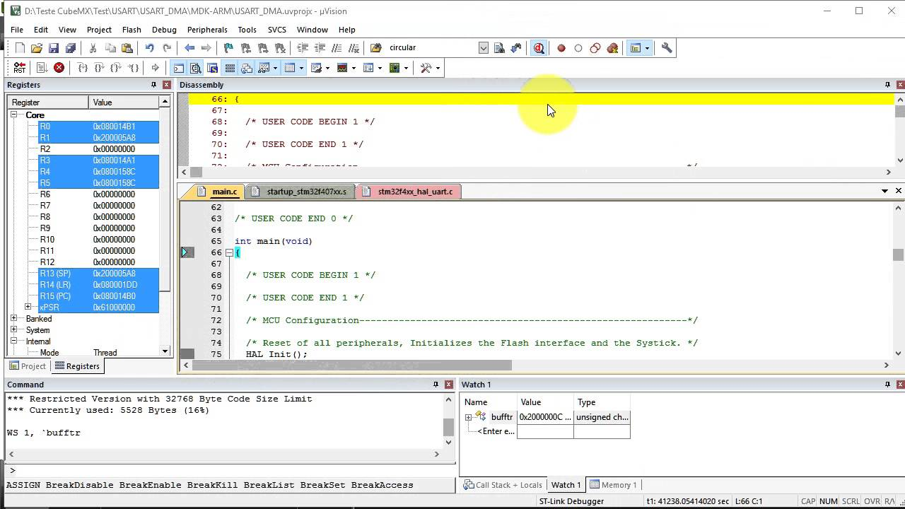Tutorial CubeMX- 8- ADC_DMA+USART_DMA STM32F4 Discovery