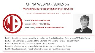 Benefits of the preferential tax policy for Small & Medium Enterprises SMEs in China