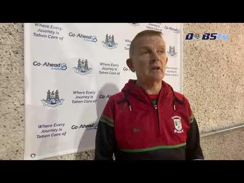 Ballymun Kickhams manager Brendan Hackett speaks to DubsTV after draw with Skerries Harps