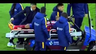 GESTO EMOCIONAL - Mascherano besa a Augusto Fernández (FCBvsATM)
