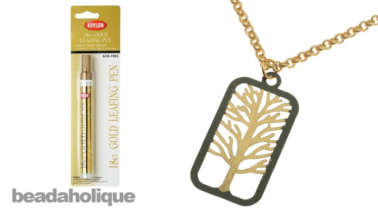 Krylon Acid-Free Leafing Pen - For Metallic Highlights - 18K Gold (1 Pen)