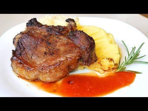 Как приготовить стейк из свинины на сковороде сочно и вкусно
