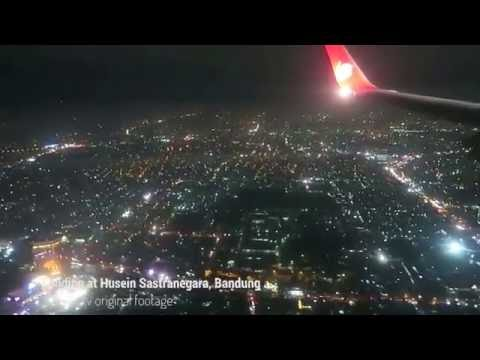 Night Landing in Bandung with Lion Air