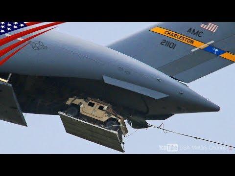 【着地失敗の原因は!?】軍用車ハンヴィー・飛行機からの空中投下