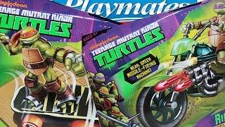 Черепашки-ниндзя от Playmates Toys: транспорт -  мотоцикл и скейтборд.