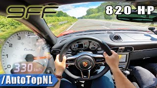 820HP PORSCHE 997 TURBO 9ff MANUAL *330km/h* on AUTOBAHN [NO SPEED LIMIT] by AutoTopNL