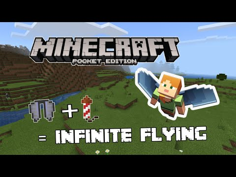 🏁How To Rocket Propel Elytra In Minecraft Pocket Edition| MCPE| Tutorial.