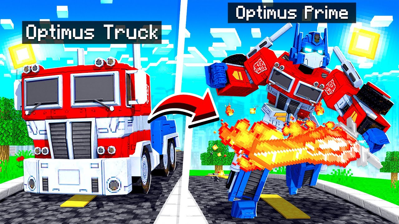 PLAYING as TRANSFORMERS in MINECRAFT!