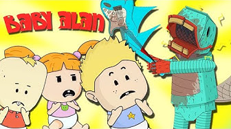 "Baby Alan Cartoon ""Creepy Pizza Animatronics"" Season 1 Episode 14"