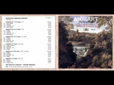 wolfgang amadeus mozart symphony no 7 in d major k 45 i molto allegro