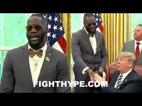 DEONTAY WILDER SPEAKS AT JACK JOHNSON PARDON; THANKS PRESIDENT TRUMP, WHO GIVES KO REPLY