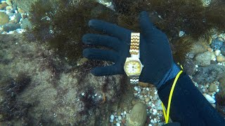 UNDERWATER TRESURE HUNT - FOUND MOBILE PHONE, SILVER JEWELERY, WALLET AND MONEY