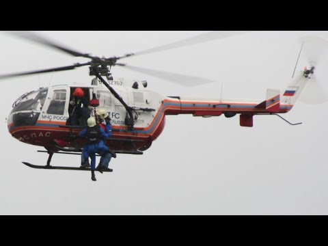 EMERCOM of Russia «Tsentrospas» MBB BO-105 Rescue Demo - Russia Ministry for Emergency Situations