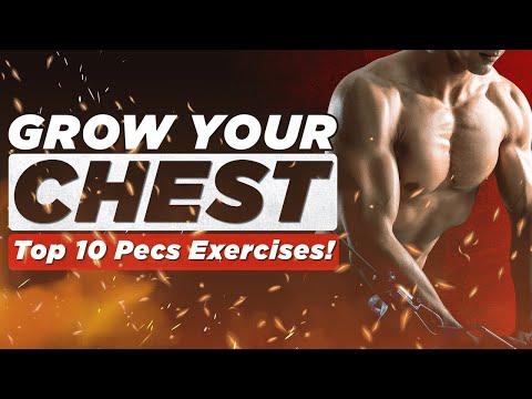 ��The Top 10 Chest Exercises!   BJ Gaddour Men's Health Pecs Muscle Gain Workout