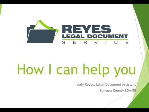 How I Can Help You Reyes Legal Document Service YouTube - Legal document assistant