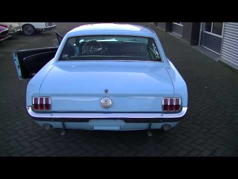 Ford Mustang 1966 restored baby blue beautiful condition -VIDEO- www.ERclassics.com