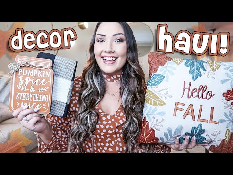 AFFORDABLE FALL DECOR HAUL | Amazon, Dollar Tree, Big Lots, Michaels & more!