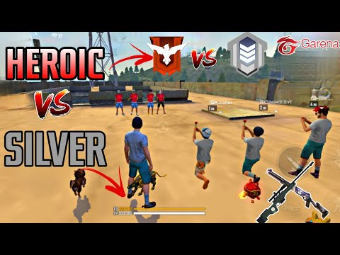 FREE FIRE || SILVER VS HEROIC || FIST FIGHT IN FACTORY ROOF ||WHO WINS?||SILVER OR HEROIC|| #tsgarmy