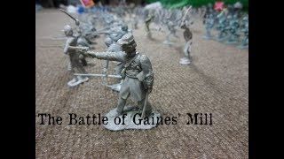 The Battle of Gaines' Mill Made With Plastic Soldiers