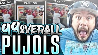 OMG 99 OVERALL ALBERT PUJOLS!! BEST CARD IN THE GAME | MLB 16 THE SHOW DIAMOND DYNASTY