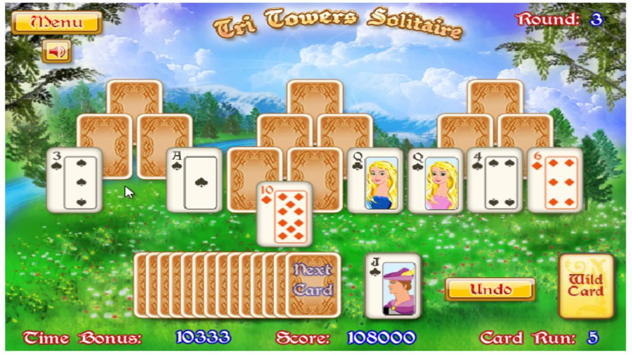 Tri Towers Solitaire Free