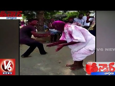 Old Man Perform Dance For V6 Bathukamma Song | Teenmaar News | V6 News
