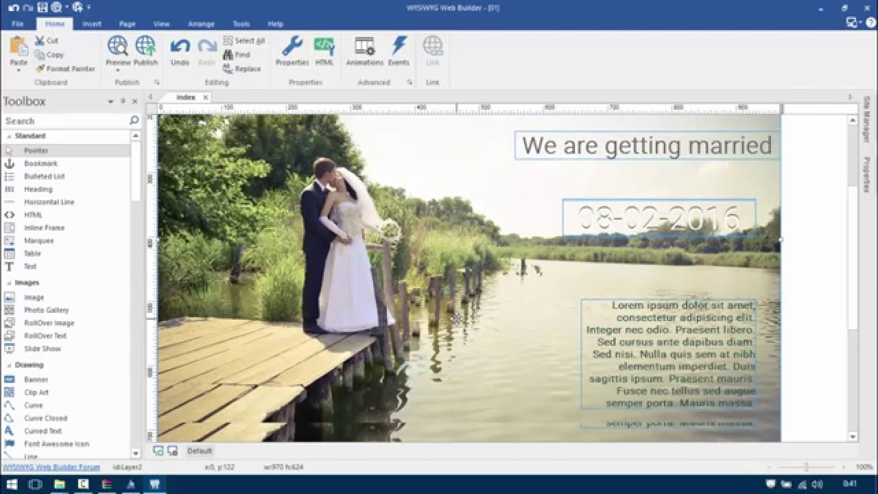 WYSIWYG Web Builder 11 & 12  Full Responsive, Full Site, Parallax (spanish)