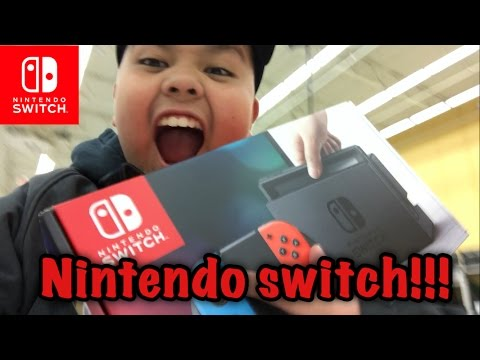 Nintendo Switch!!! Pickup and unboxing