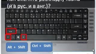 Как работать на клавиатуре компьютера