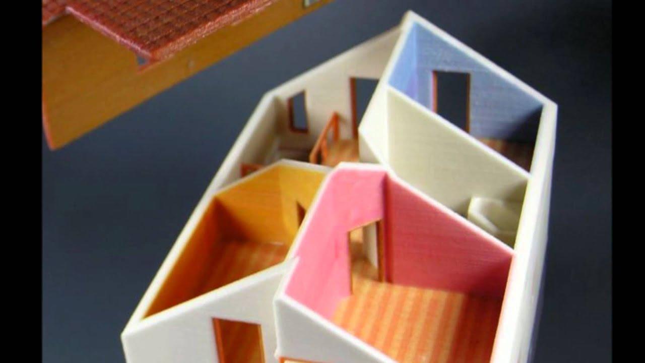 Delightful Das Haus Modell Aus Dem 3D Drucker