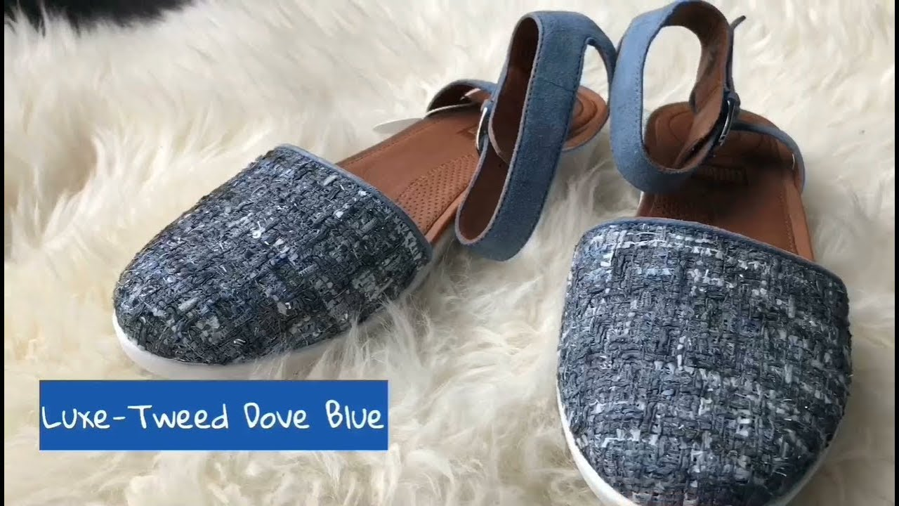 ca3a7d3514e55f FitFlop Cova Closed-toe Scandal Luxe-Tweed Dove Blue - YouTube