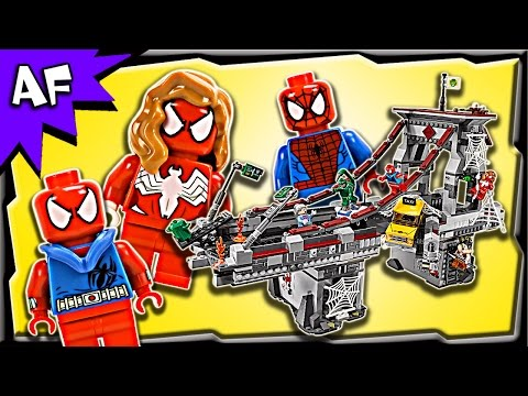 Lego Spider-Man WEB WARRIORS Ultimate Bridge Battle 76057 Stop Motion Build Review