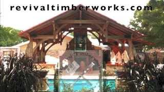 Revival Timberworks' Slideshow Of Timber Framing Techniques, Cutting Joinery, Pavilion Designs