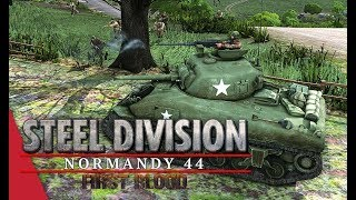 The Methodical Approach! Steel Division: Normandy 44 Live Gameplay (Mont Ormel, 4v4)