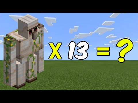 I Combined 13 Iron Golems In Minecraft - Here's WHAT Happened...