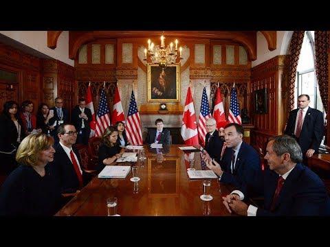 Cabinet ministers meet with Trump's treasury secretary