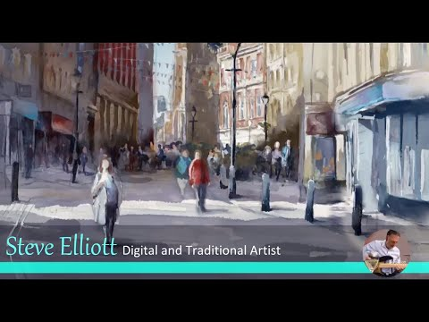 Traditional to Digital Painter -  Digital Art speed painting - Watercolour in Artrage