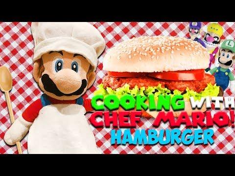 """SM134 Short: Cooking With Chef Mario! """"Hamburger"""""""