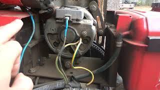 обзор крепления генератора и топливного бака мототрактор