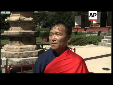 South Korean Buddhists attend ceremony during five-day visit