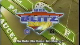 NFL Blitz 2000  - Midway -  Commercial  - Dreamcast N64 Ps1  - Gameboy Color  - Video Game (1999)