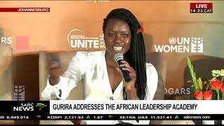 Danai Gurira addresses the Africa Leadership Academy