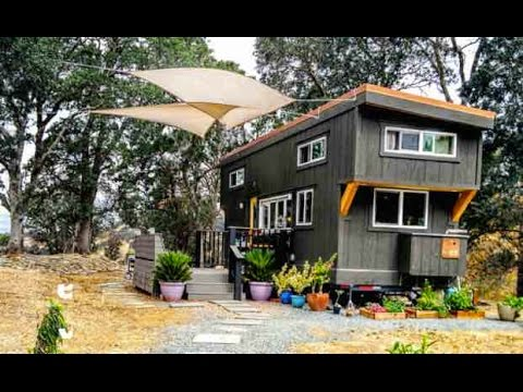Beautiful Tiny House w a built in Bar Window Full Tour