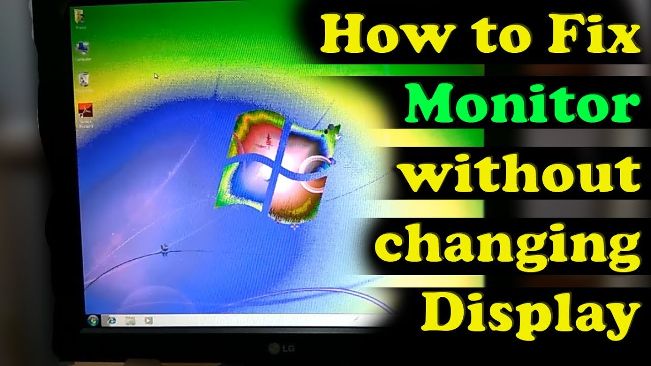 How to fix monitor negative color problem without changing display